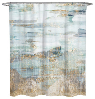 Gray And Teal Shower Curtain. OliverGal  Love in Teal Shower Curtain 71 x74 Reviews Houzz The Oliver Gal Artist Co