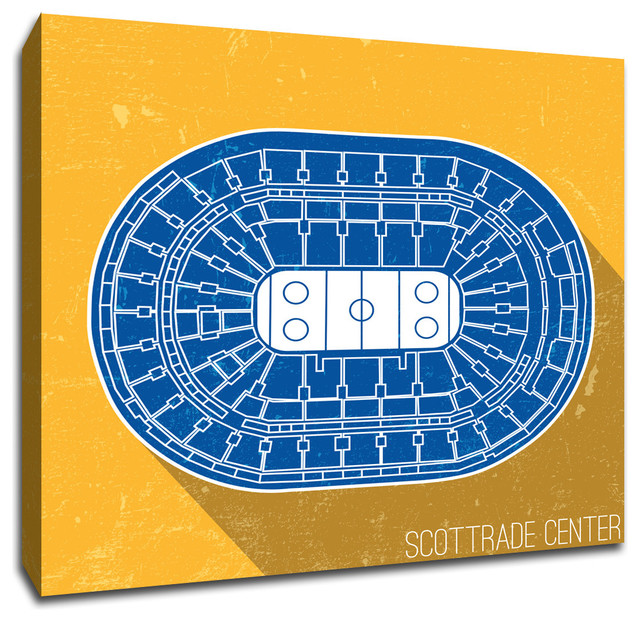 St Louis Blues NHL Seating Map Canvas 20quotx20quot Prints  : prints and posters from www.houzz.com size 640 x 622 jpeg 178kB