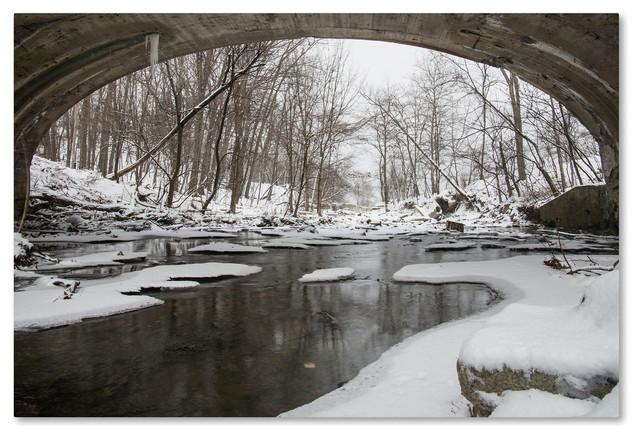 """Kurt Shaffer 'Cold Flow' Canvas Art, 19""""x12"""""""