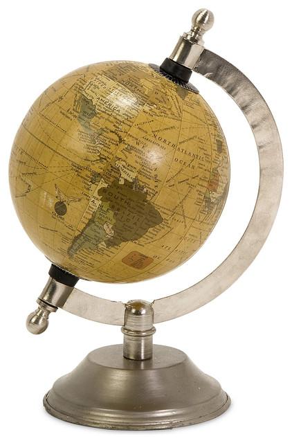 IMAX Colony Globe With Nickel Finish Base