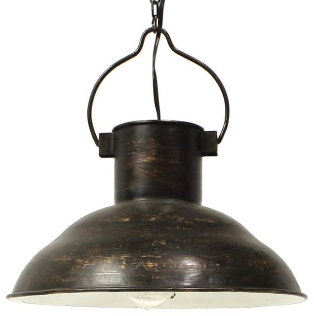Retro Vintage Style Industrial Pendant Light, Metal Dome