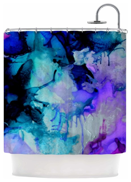 Claire Day Lakia Blue Purple Shower Curtain