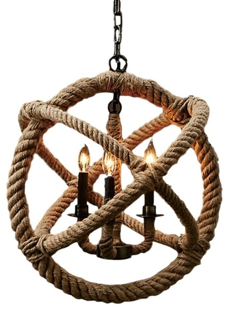 Mouthis 4-Light Rope Chandelier