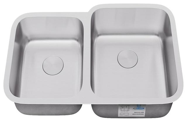 31 3 4 X20 9 16 Mount Double Bowl Kitchen Sink 40 60