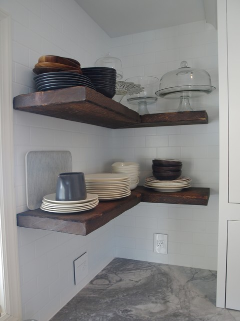 Reclaimed wood - Floating Shelves - Farmhouse - New York - by ...