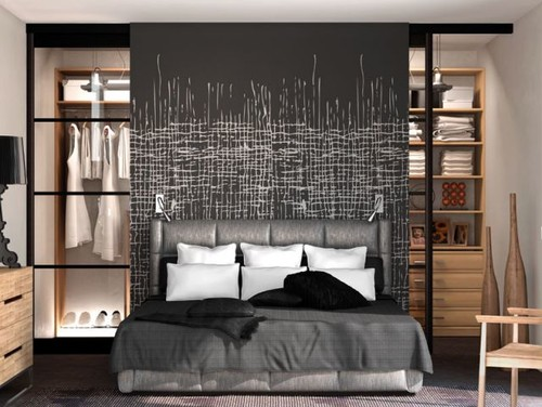petits espaces un dressing dans ma chambre. Black Bedroom Furniture Sets. Home Design Ideas