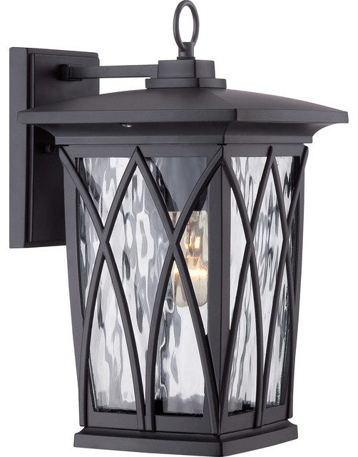 Grover 1-Light Outdoor Wall Lights, Mystic Black.