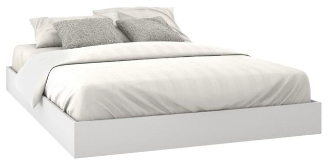 Paris Platform Bed, White.
