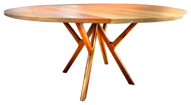 Vermont modern furniture collection mid century modern for Mid century round dining table