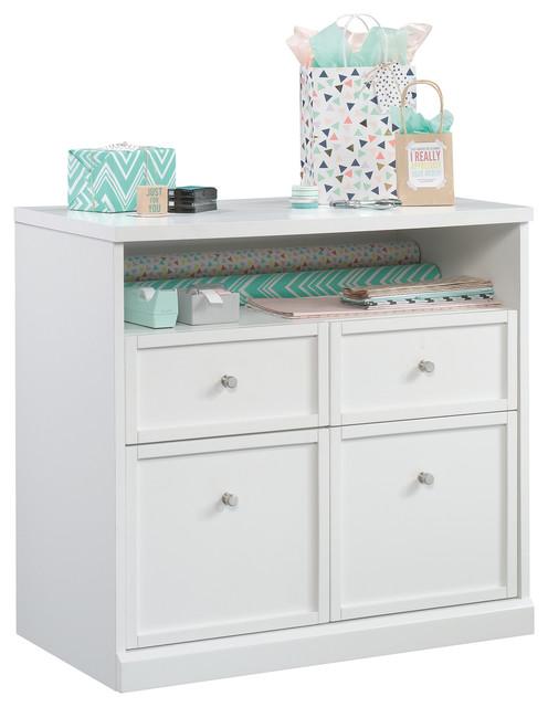 Craft Pro Series Storage Cabinet, White.