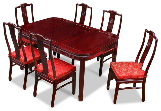 Magnificent 60 Rosewood Chinese Dining Table Set With 6 Chairs Download Free Architecture Designs Rallybritishbridgeorg