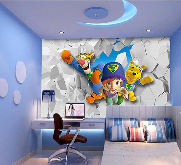 Chambre coucher pour garcon tunisie papier peint 3d pour enfant modernbedroom