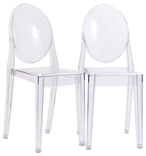 Peachy Clear Acrylic Victoria Style Ghost Side Chairs Set Of 2 Ocoug Best Dining Table And Chair Ideas Images Ocougorg