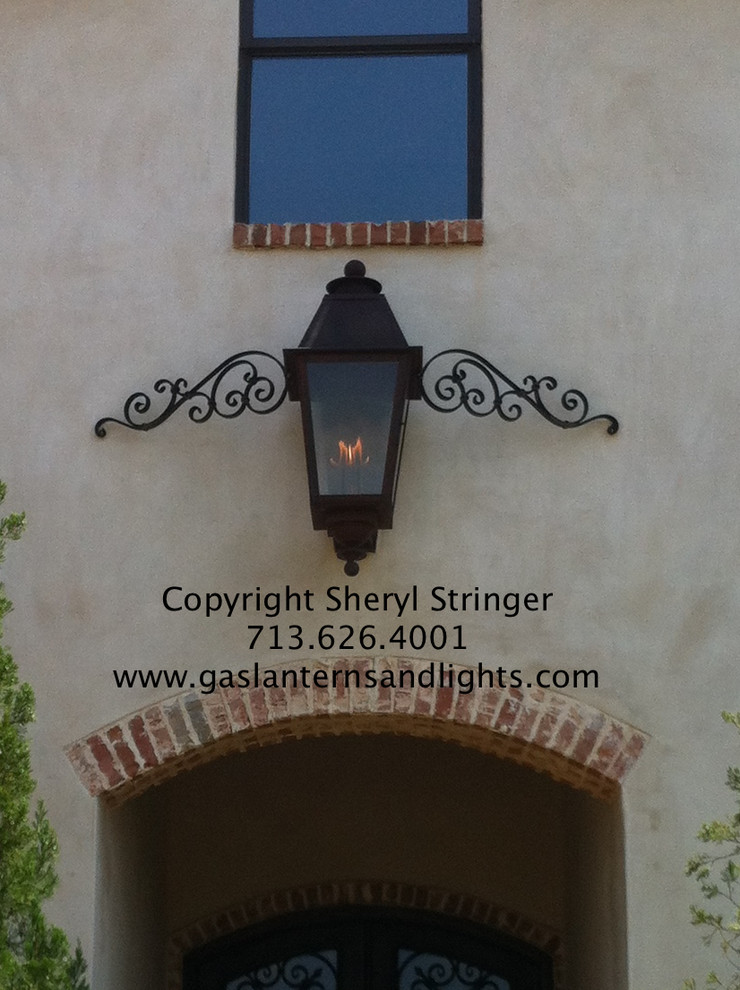 Plantation Style Gas Lantern with Mustache, by Sheryl Stringer
