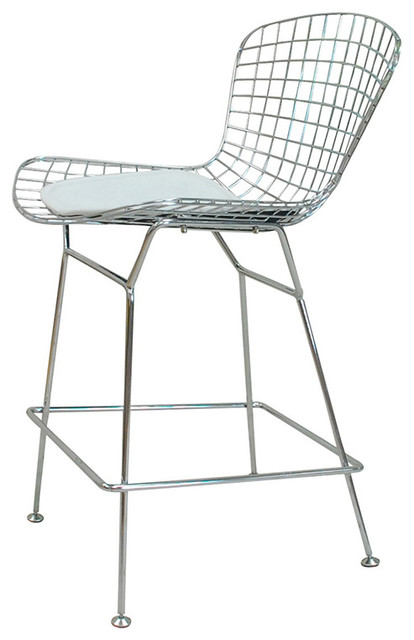 Chrome Wire Side Chair Contemporary Dining Chairs By