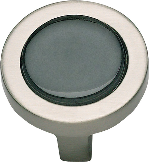 Atlas Homewares Spa Black Round Knob - Contemporary - Cabinet And Drawer Knobs - by Knobs and Beyond
