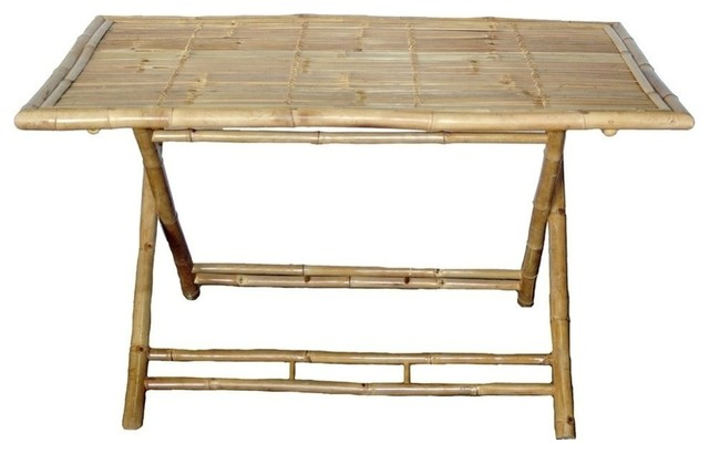 Charming Bamboo54 5462 Large Rectangle Bamboo Table Folding Tables