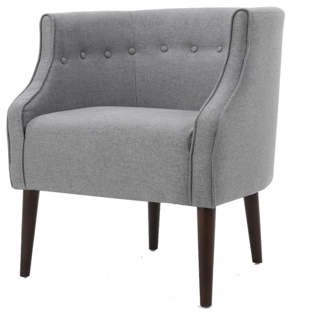 Merveilleux GDF Studio Davidson Tub Design Upholstered Accent Chair, Gray