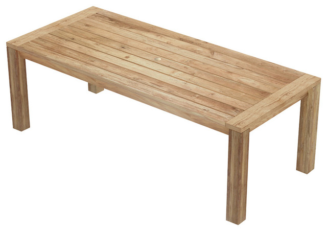 Lawrence Reclaimed Teak Outdoor Dining Table.