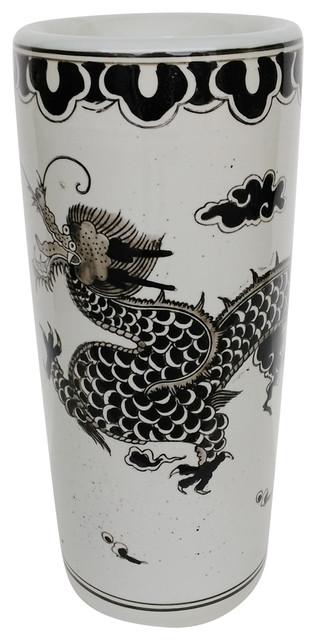 Dorete Umbrella Stand Vase Dragon 8x18 Asian Vases By