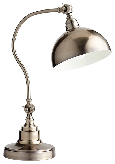 Cyan Design 07456 Chemile Pewter Desk Lamp Traditional Lamps