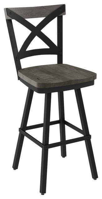 Swell Jasper Swivel Textured Metal Stool Black Light Gray Bar Height Bralicious Painted Fabric Chair Ideas Braliciousco