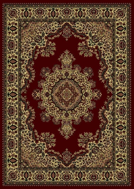 castello 1191 burgundy traditional rug - traditional - area rugs