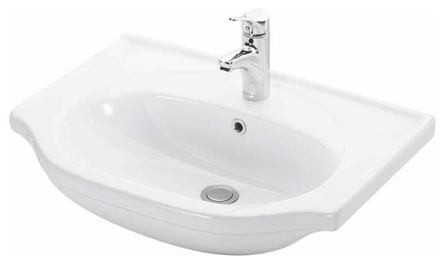 ... Wall Mounted / Semi-recessed Bathroom Sink contemporary-bathroom-sinks