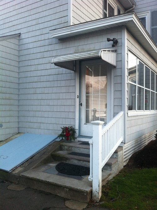 Want To Replace Metal Awning Over Door