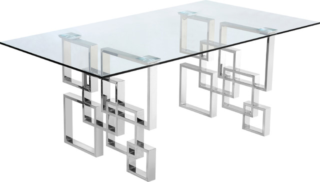 Alexis Dining Table, Chrome