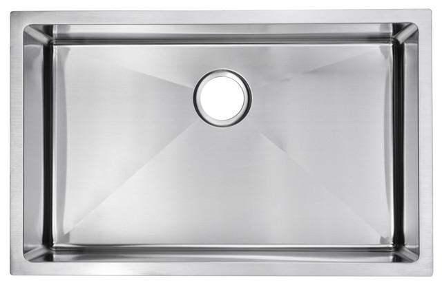 Corner Radius Single Bowl Stainless Steel Hand Made Undermount Kitchen Sink.