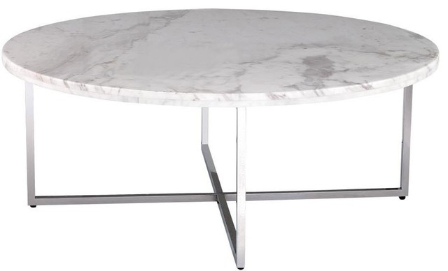 caridad round marble coffee table - contemporary - coffee tables