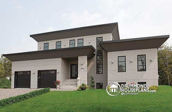 Caldwell Modern Drummond House Plans no 3457 Modern