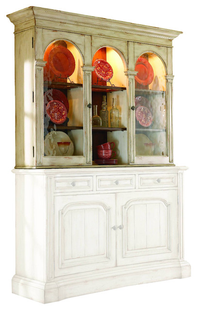 Hooker Furniture   Hooker Furniture Summerglen Triple Arch Hutch   China  Cabinets And Hutches