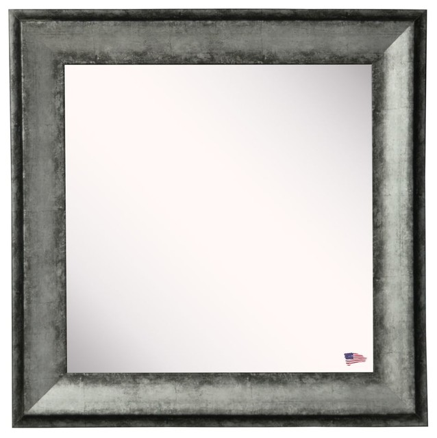 American Made Rayne Sterling Charcoal Square Mirror Set Of 4 18 5 X1 13