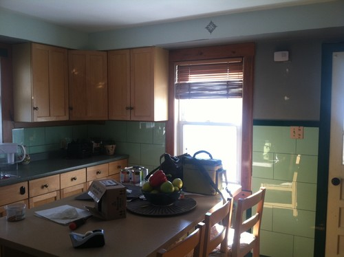 Need help with my glass tiled kitchen!