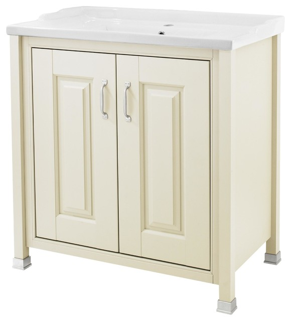 Old London Ivory Cabinet and Basin, 60 cm