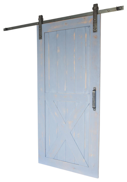 "Artisan 2 Panel Barn Door, 7&x27;6""x3&x27;6""."