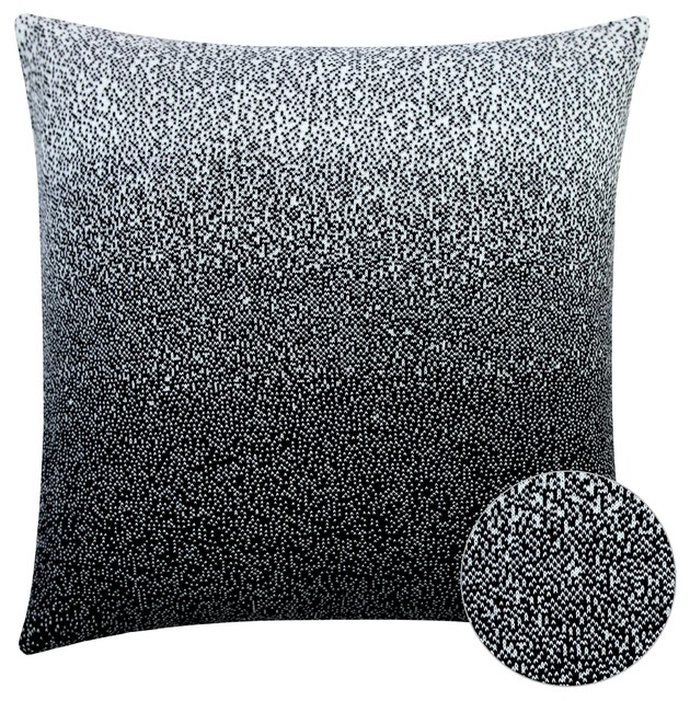 Terren Lounge Set | Terran Black And White Ombre Cushion Cover Contemporary