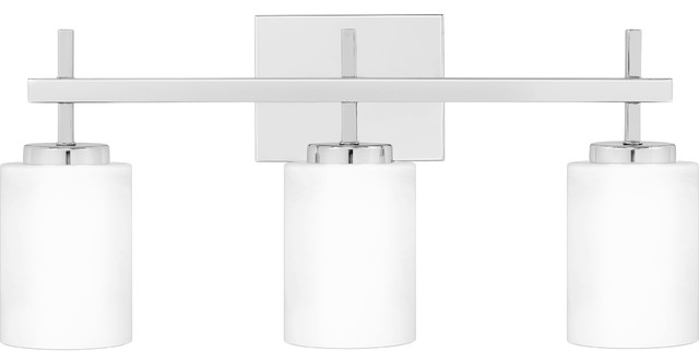 "Fare 3-Light 22.25"" Wide LED Bathroom Vanity Light With Opal Etched Glass Shades"