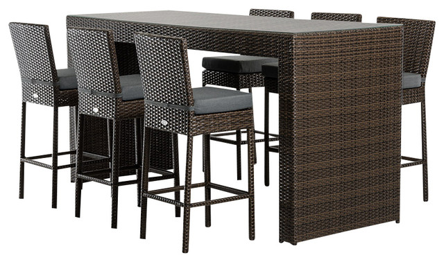 renava genua outdoor bar table set modern outdoor pub and bistro