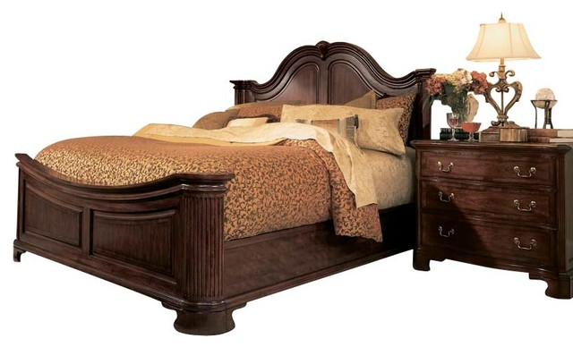 American Drew Cherry Grove 4 Piece Mansion Bedroom Set In Antique Cherry  Traditional Bedroom