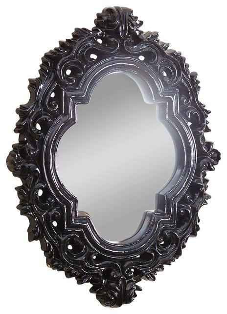 Abbyson Living Belvedere Black Resin Wall Mirror View