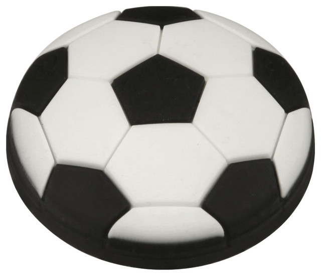 Hickory Hardware Hickory Hardware Kids Black Soccer Ball Cabinet Knob - Cabinet And Drawer Knobs ...