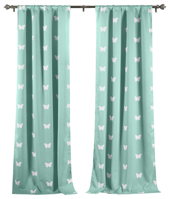 lalabash wink room darkening curtains seafoam curtains - Room Darkening Curtains