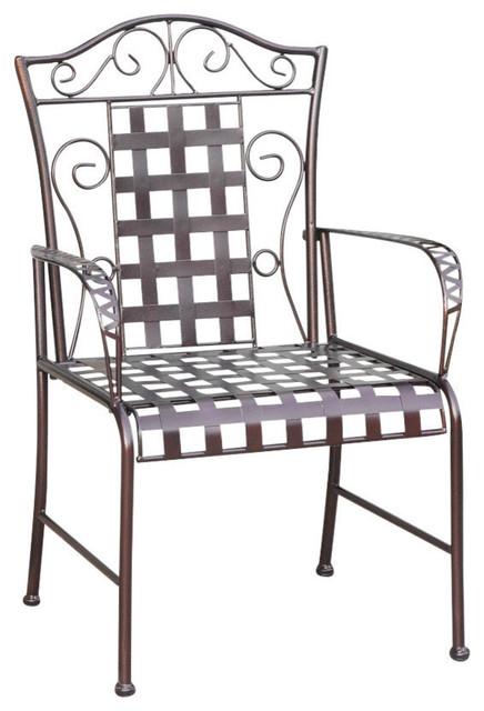Mandalay Iron Chairs, Bronze, Set Of 2.