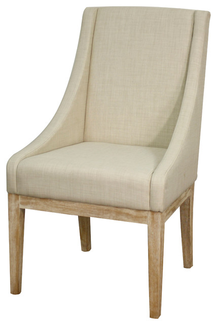 Houston fabric chair linen transitional dining chairs by sohomod - Dining room chairs houston ...