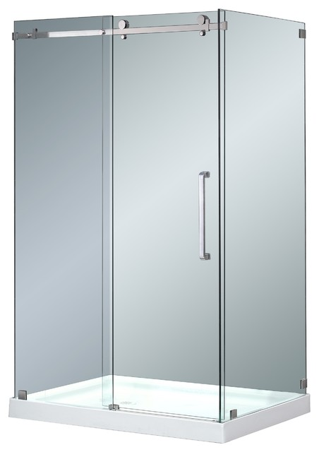 Aqua Glass Shower Enclosure With Base Modern Shower Stalls And