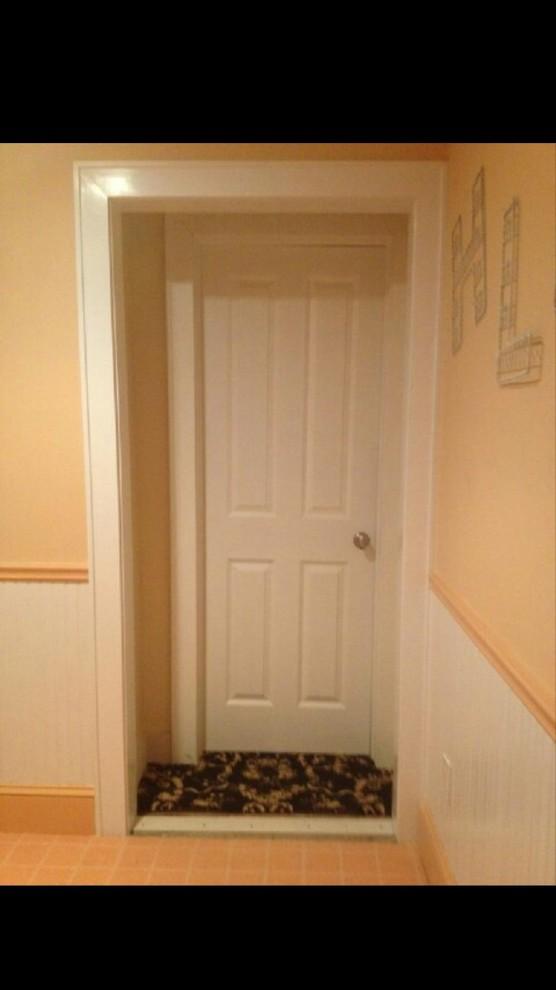 Doorway becomes closet/wardrobe