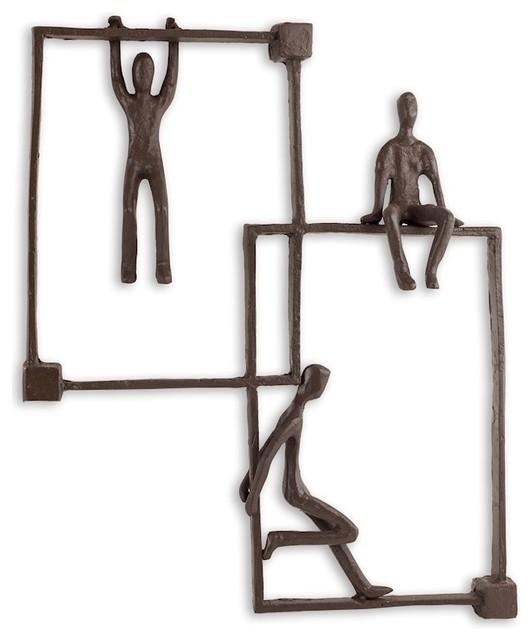 Danya B Playful Kids On Frames Iron Wall Piece.